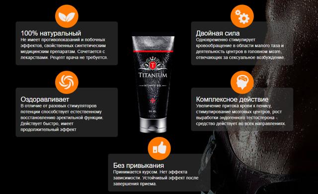 Титаниум (titanium) гель для мужчин: отзывы, инструкция по применению, купить